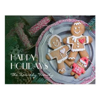 Xmas cookies postcard