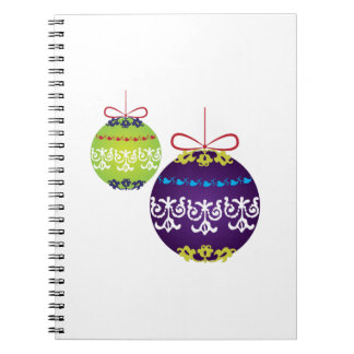 Xmas Decorations Spiral Notebooks