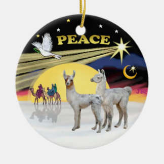 Xmas Dove - 2 Baby Llamas Christmas Ornament