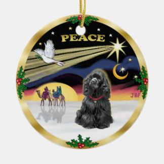 Xmas Dove - Black Cocker Spaniel Christmas Ornament