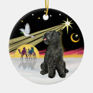 Xmas Dove- Kerry Blue Terrier Christmas Ornament