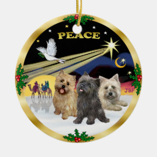 Xmas Dove - Three Cairn Terriers Christmas Ornament