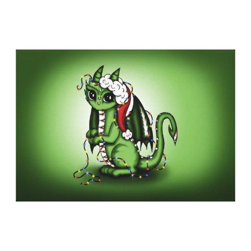 Xmas Dragon canvas Canvas Print