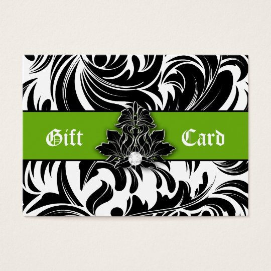 Xmas Elegant Jewellery Logo Gift Card Green Black