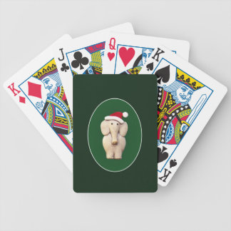 Xmas Elephant Bicycle Playing Cards