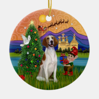 Xmas Fantasy - American Foxhound Christmas Ornament