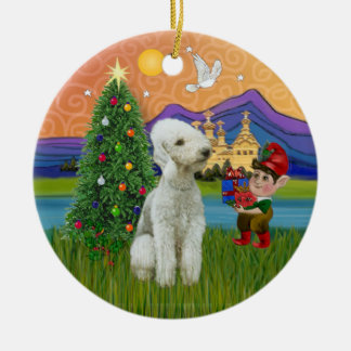 Xmas Fantasy - Bedlington Terrier Christmas Ornament