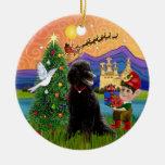 Xmas Fantasy - Black Standard Poodle Ornament