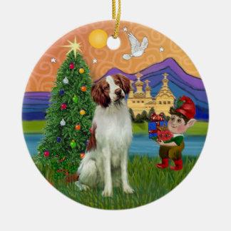 Xmas Fantasy -  Brittany Spaniel Christmas Ornament