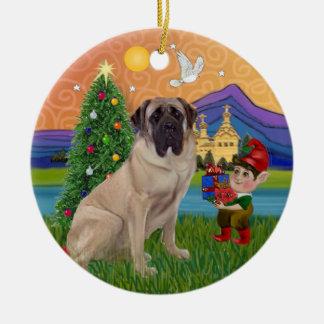 Xmas Fantasy - Bull Mastiff Christmas Ornament