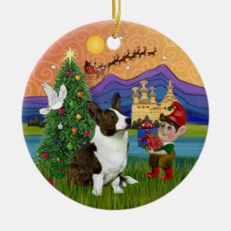 Xmas Fantasy -  Cardigan Welsh Corgi Christmas Ornament