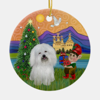 Xmas Fantasy - Coton de Tulear Christmas Ornament