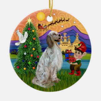 Xmas Fantasy -  English Setter Christmas Ornament