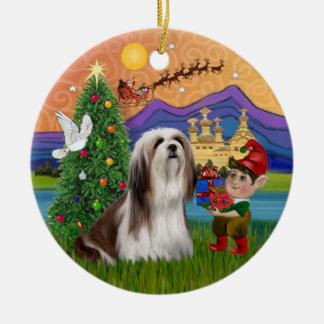Xmas Fantasy -  Lhasa Apso Christmas Ornament