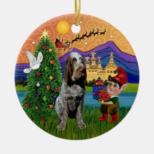 Xmas Fantasy - Spinone Italiano (roan) Christmas Ornament
