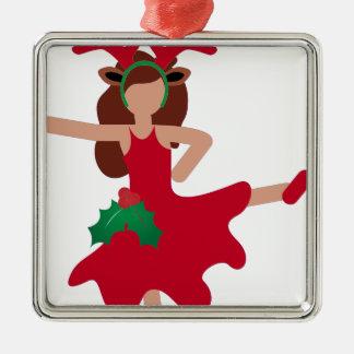 xmas flamenco dancer emoji christmas ornament