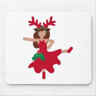 xmas flamenco dancer emoji mouse pad