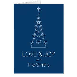 XMAS | geometric christmas tree Card