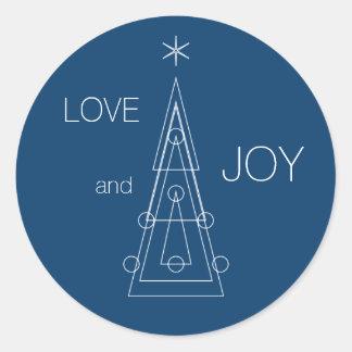 XMAS | geometric christmas tree Classic Round Sticker