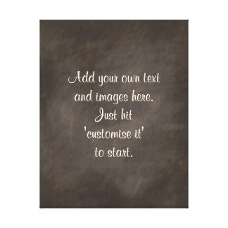 Xmas Gift ideas retro chalkboard sayings signs Gallery Wrapped Canvas