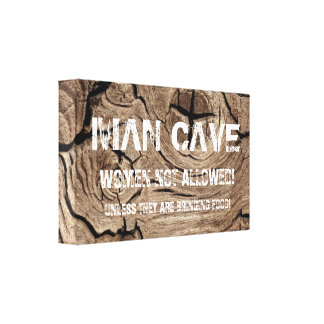 Xmas gifts for men, man cave canvas keep out signs canvas print