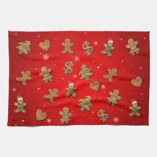 Xmas Gingerbread Cookies Tea Towels