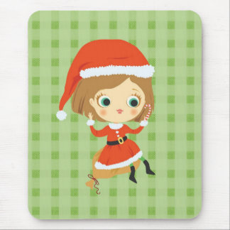 Xmas Girl I Mousepad