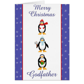 Xmas Godfather Greeting Card