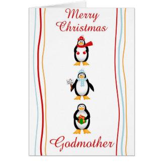 Xmas godmother greeting card