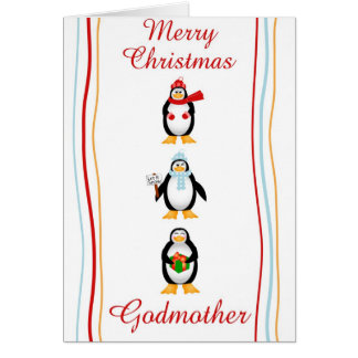 Xmas godmother greeting cards