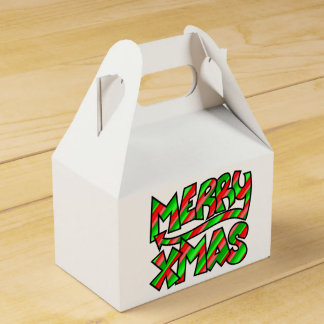 XMAS Graffiti Favour Box