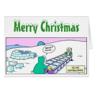 Xmas (Igloo Builders) Greeting Card