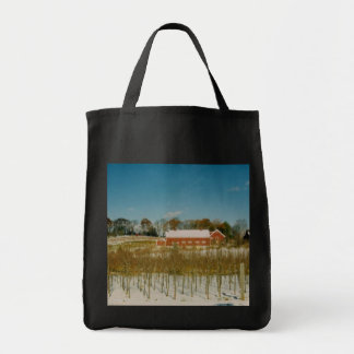 Xmas in New England Grocery Tote Bag