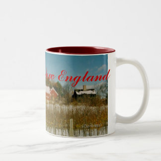 Xmas in New England Two-Tone Mug