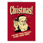Xmas: I've Got Your Holiday Spirit Right Here Card