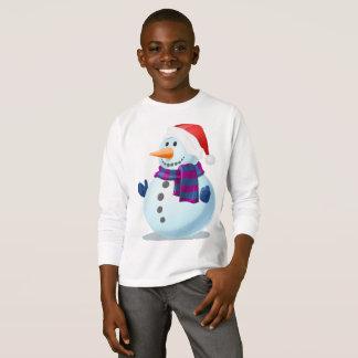 Xmas Kids Sweatshirt-Snowman Design T-Shirt