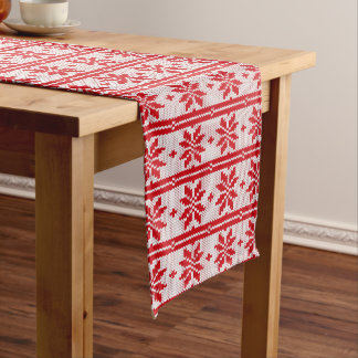 Xmas knitting seamless pattern 1 + your ideas long table runner