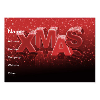 Xmas lettering business card template