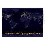 Xmas (Light of the World) Greeting Card