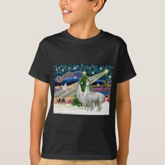 Xmas Magic - 2 Llamas T-Shirt