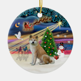 Xmas Magic - Akita Inu Christmas Ornaments