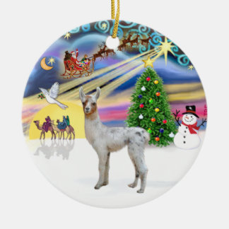 Xmas Magic - Baby Llama Christmas Ornament