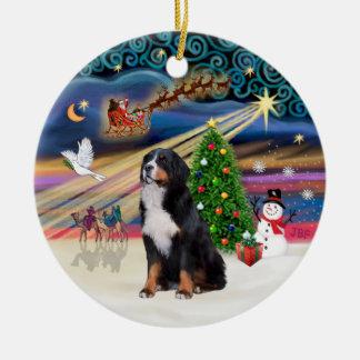 Xmas Magic - Bernese Mountain Dog 2 Christmas Ornaments