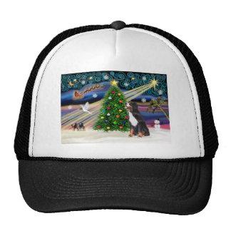 Xmas Magic-Bernese Mountain Dog Trucker Hats