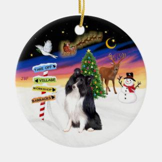 Xmas Magic - Bi Black Shetlalnd Sheepdog Ornaments