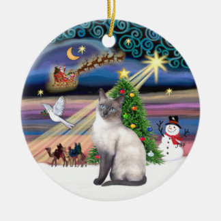Xmas Magic - Blue Point Siamese Christmas Ornament