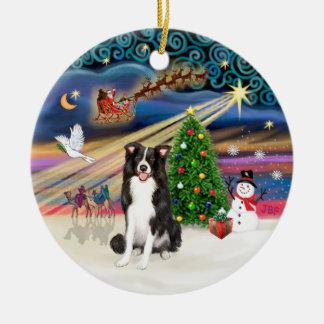 Xmas Magic - Border Collie 1 Christmas Ornament