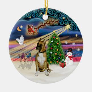 Xmas Magic - Boxer 3 (black mask) Christmas Ornament