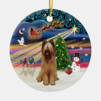 Xmas Magic - Briard (fawn) Christmas Ornament