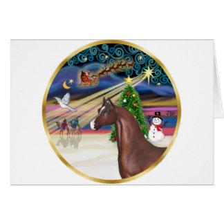 Xmas Magic - Brown Arabian Horse Card